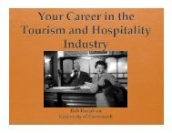 Your Career in the Tourism and Hospitality Industry, Rob Davidson