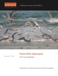 Marine Birds 5 Year Evaluation - Executive Summary - Packard ...