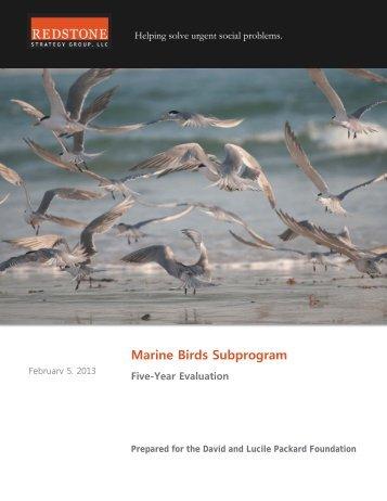 Marine Birds 5 Year Evaluation - Executive Summary - Packard ...
