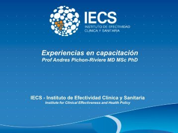 Presentación capacitación ETS IECS - Organismo Andino de Salud