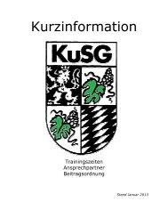 Trainingszeiten - KuSG Leimen