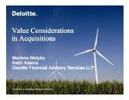 Value Considerations in Acquisitions - Deloitte