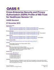 (XSPA) Profile of WS-Trust for Healthcare Version 1.0 - docs oasis ...