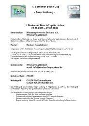 1. Borkumer Beach Cup - Uniqua Deutschland eV