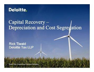 Depreciation and Cost Segregation - Deloitte