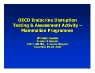 OECD Endocrine Disruption Testing & Assessment Activity - Cefic LRI