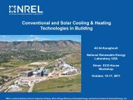 Conventional and solar cooling & heating technologies in buildings