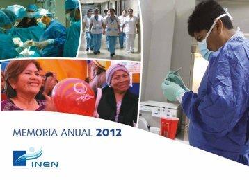 Memoria 2012 - Instituto Nacional de Enfermedades Neoplásicas