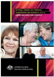(lgbti) ageing and aged care strategy - Seniors Enquiry Line