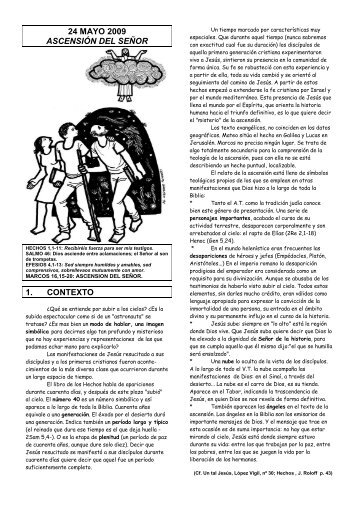 24 mayo 2009 ascensión del señor 1. contexto - Escucha de la ...