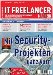 IT Freelancer Magazin Nr. 3/2009