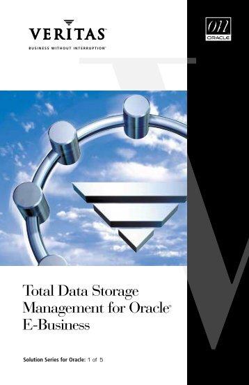 Total Data Storage Management for Oracle E ... - Eval.veritas.com