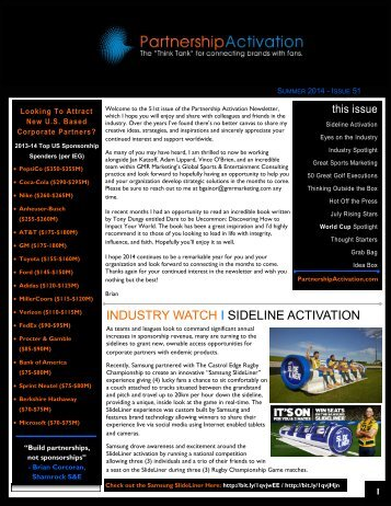 Partnership Activation - Summer 2014 Newsletter (51)