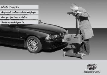 Mode d'emploi Appareil universel de réglage des projecteurs Hella ...