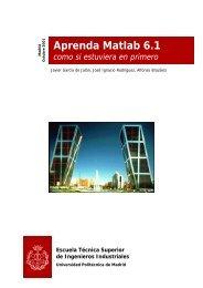 Aprenda Matlab 6.1 - Universidad Politécnica de Madrid