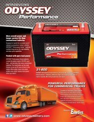 Performance Series Flyer - ODYSSEY Batteries