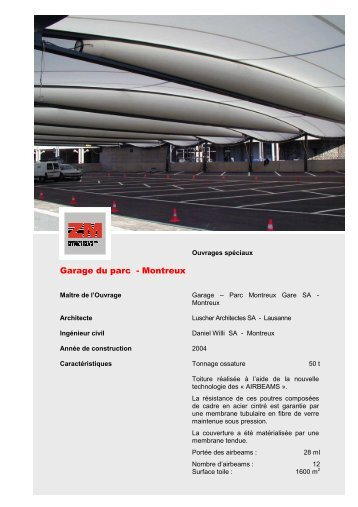 10 free magazines from zwahlen ch for Garage du parc