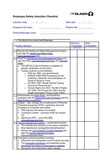 what is the induction schedule pdf