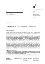Interne Mitteilung (pdf, 29KB) - zahnmedizinische kliniken zmk bern ...