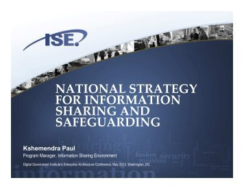 national strategy for information sharing and safeguarding - Digital ...