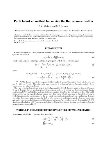 Particle-in-Cell method for solving the Boltzmann equation
