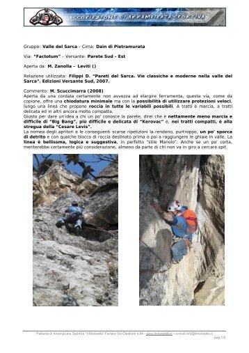 Gruppo: Valle del Sarca - Cima: Daìn di Pietramurata ... - Il Monodito