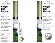 Cougar Golf Classic Cougar Golf Classic