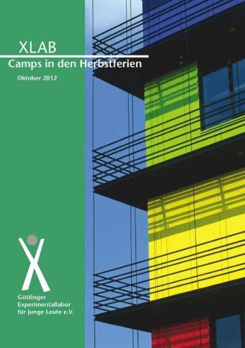 "Bericht ""Camps in den Herbstferien 2012"" - XLAB"