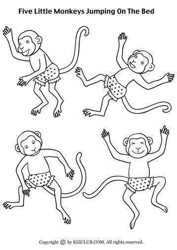 Five little monkeys jumping on the bed pressomatic for Five little monkeys jumping on the bed coloring pages