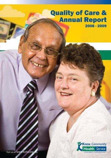 KCHS 2009 QOC Ann Report - Knox Community Health Service