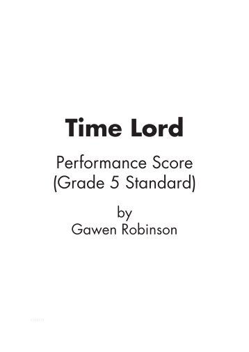 Performance Score Sample (Grade 5 standard) - Musicline