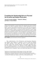 Examining the Relationship Between Parental Involvement  and ...