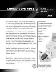 MS-Series Specification Sheet - Liquid Controls