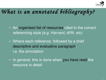 What is an annotated bibliography? - Library