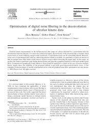 Optimisation of digital noise filtering in the deconvolution of ultrafast ...
