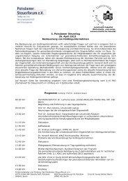 5. Potsdamer Steuertag 26. April 2013 Besteuerung von ...