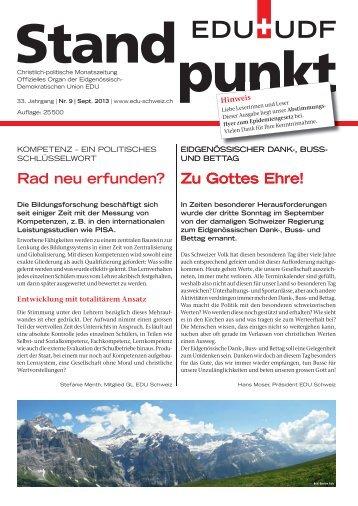 Zu Gottes Ehre! Rad neu erfunden? Zu Gottes Ehre! - EDU Schweiz