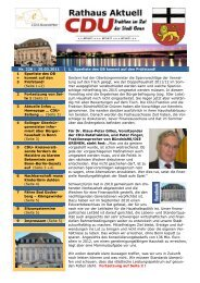CDU-Newsletter vom 25.03.2011 - CDU-Kreisverband Bonn