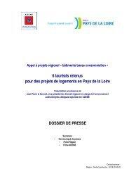 Dossier de presse. Appel à projets bâtiments basse - Conseil ...