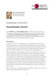 Zukunftsrisiko Armut? - Fachhochschule Salzburg