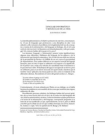 lenguaje informático y moléculas de la vida - Ludus Vitalis