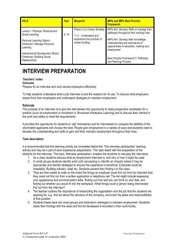 Preparing a resume blueprint australian blueprint for career interview preparation blueprint australian blueprint for career malvernweather Gallery