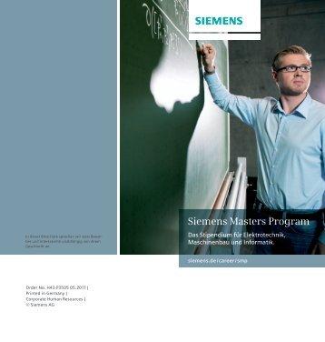 Siemens Masters Program