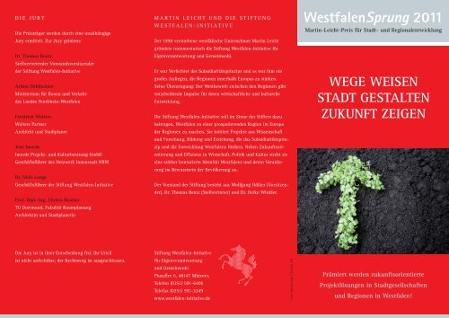 WestfalenSprung 2011 - Westfalen Initiative