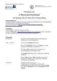 3. Bayerischen Floristentag - Botanischer Informationsknoten Bayern