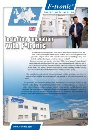 Would you like more information on our products? - F-tronic