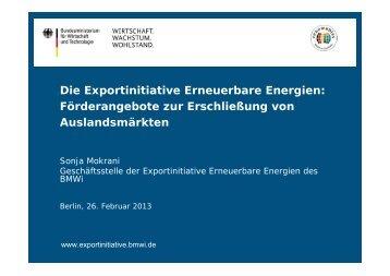 Die Exportinitiative Erneuerbare Energien - AHK Algerien - AHKs