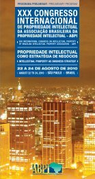 XXX Congresso Internacional de Propriedade Intelectual - Unioeste