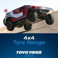 4x4 Tyre Range - Toyo