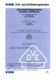 Vde-Zertifikat: E510 - F-tronic